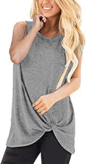 OrchidAmor Women 2019 Fashion Loose Sleeveless Half Sleeve Shirt Women O-Neck Casual Solid T-Shirt Blouse Tops