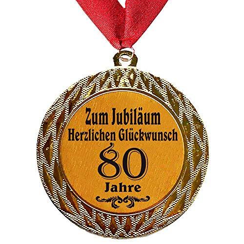 Larius Group Medaille Orden zum Jubiläum Geburtstag 80 Jahre Auszeichnung Ehrenorden zum Geburtstag Geschenk Jubilar Persönlichen Orden zum Geburtstag