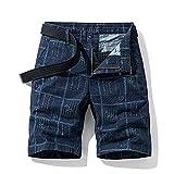 ShZyywrl Pantalones Cortos De Hombre Pantalones Cortos Militares De Verano para Hombre, De Algodón, Informales, Sueltos, para Hombre, Ropa Corta, Pantalones Co
