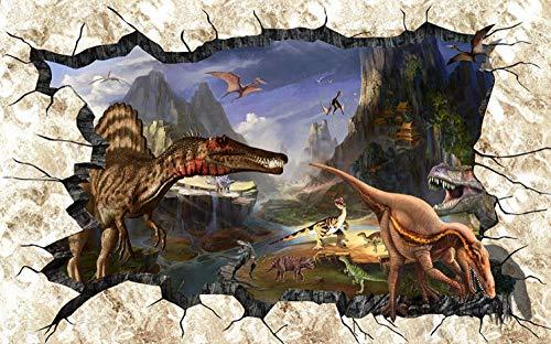 3D Decorations Wallpaper Wall Stickers Muralsanimal Dinosaur Tyrannosaurusart Bar Kids Kitchen_(W)250x(H)175cm