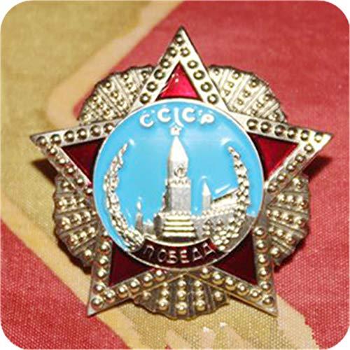 WERTY Recuerdo del Cuadrado Rojo Ruso, Pin CCCP en Miniatura, Insignia de la Orden de la Victoria de Rusia, Medalla del Premio de la URSS soviética, réplica de la Estrella roja de Rusia