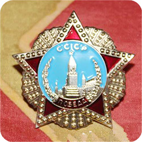 Eeng Russian red square souvenir,miniature pin Russia order of victory badge Soviet USSR award medal replica Russia red star
