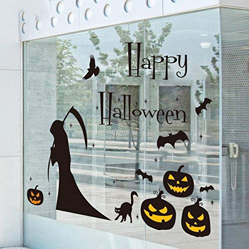 LXJ Halloween, Halloween Party Props, Decoraties, Halloween Decoratie, Halloween Glazen Deur Sticker Bar Koffie Shop Raam Stickers Grote Decoratieve Muursticker Heks