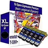5X XL Tinte PATRONEN Black kompatibel für Epson XP540