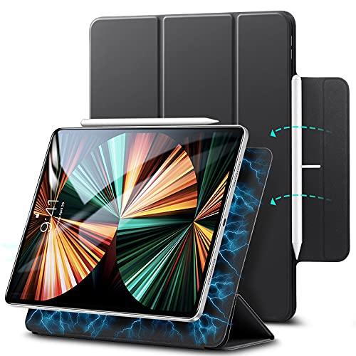 ESR Magnetische Hülle kompatibel mit iPad Pro 11 2021 5G/2020, Auto Schlaf-/Weckfunktion, Trifold Standhülle kompatibel mit iPad Pro 11 Zoll (3. Generation), Schwarz