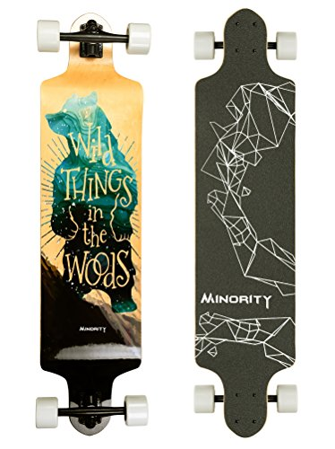MINORITY Downhill Maple Longboard 40-inch Drop Deck (Brownbear)