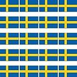 20 Stück 2cm Fahne Länder Flagge Schweden RC Modellbau Mini Aufkleber Sticker Modellbauaufkleber