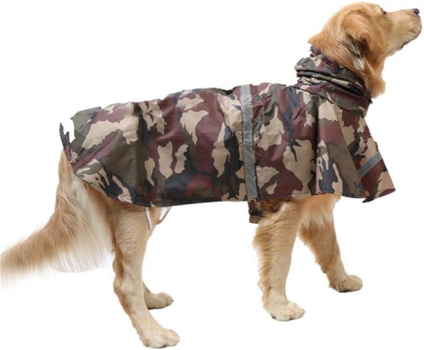 MEISISLEY Hunde Regenmantel Wasserdicht Hunderegenmantel Grosse Hunde Regenmantel f/ür Hunde Hundem/äntel f/ür gro/ße Hunde wasserdicht Brown Camouflage,M
