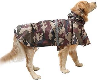Sunfauo Impermeabile Pioggia Cane Giacca Impermeabile Cane Impermeabile per Cani con Cappuccio Cappottini per Cani di Media Taglia Impermeabili Blue,S