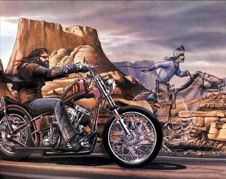Unbekannt Malen Nach Zahlen Vorstadt Häuser und Motorräder Digitale Malerei DIY Ölgemälde Bilderrahmen Geschenkrahmen 40x50cm WYLUWLI