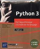 Python 3 - Coffret de 2 livres - De l'algorithmique à la maîtrise du langage (2e édition)