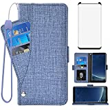 Asuwish Compatible with Samsung Galaxy S8 Plus Wallet Case