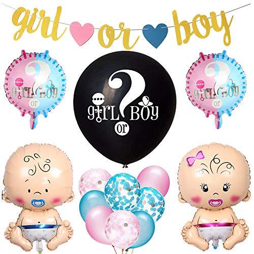 Feelairy Gender Reveal Party Dekoration Babyparty Geschlecht Offenbaren Ballons Set, 36