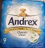 Andrex White Toilet Paper - 9 Rolls