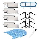 BLUELIRR Kit d'accessoires pour pièces d'aspirateur Robot Amibot Spirit H2O / Animal H2O, Mop,Filtres Hepa,Brosse latérale