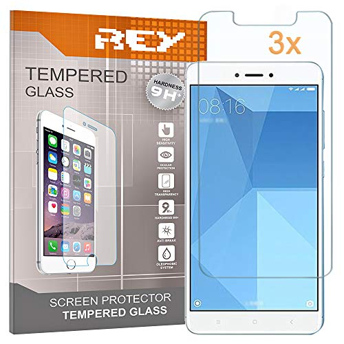 3X Protector de Pantalla para XIAOMI REDMI Note 4X, Cristal Vidrio Templado...