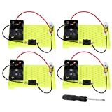 Ladieshow 4 Set DIY Basic Circuit Kit Electricity Experiment Series Herramienta de Proyecto de Aprendizaje de circuitos