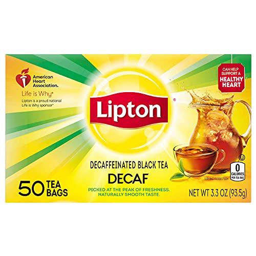 lipton black teas Lipton Black Tea Bags, Decaffeinated, 50 ct