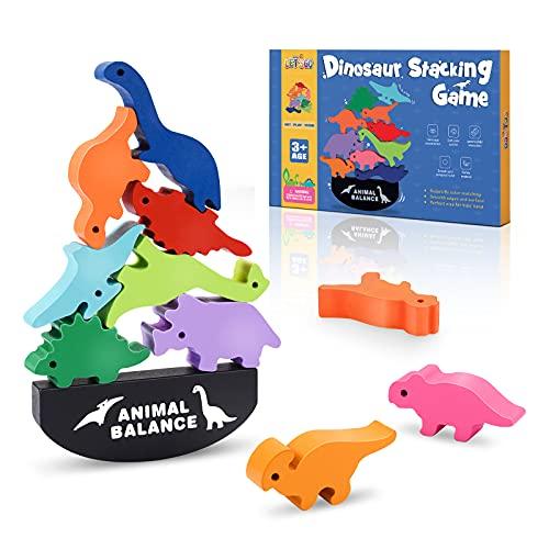 LET\'S GOgxa Spielzeug ab 3-12 Jahren, Holzspielzeug Kinderspielzeug Dinosaurier Spielzeug Junge 3-12 Jahre Geschenk Mädchen Junge 3-12 Jahre Spiele ab 3-12 Jahre Montessori Spielzeug ab 3-12 Jahren