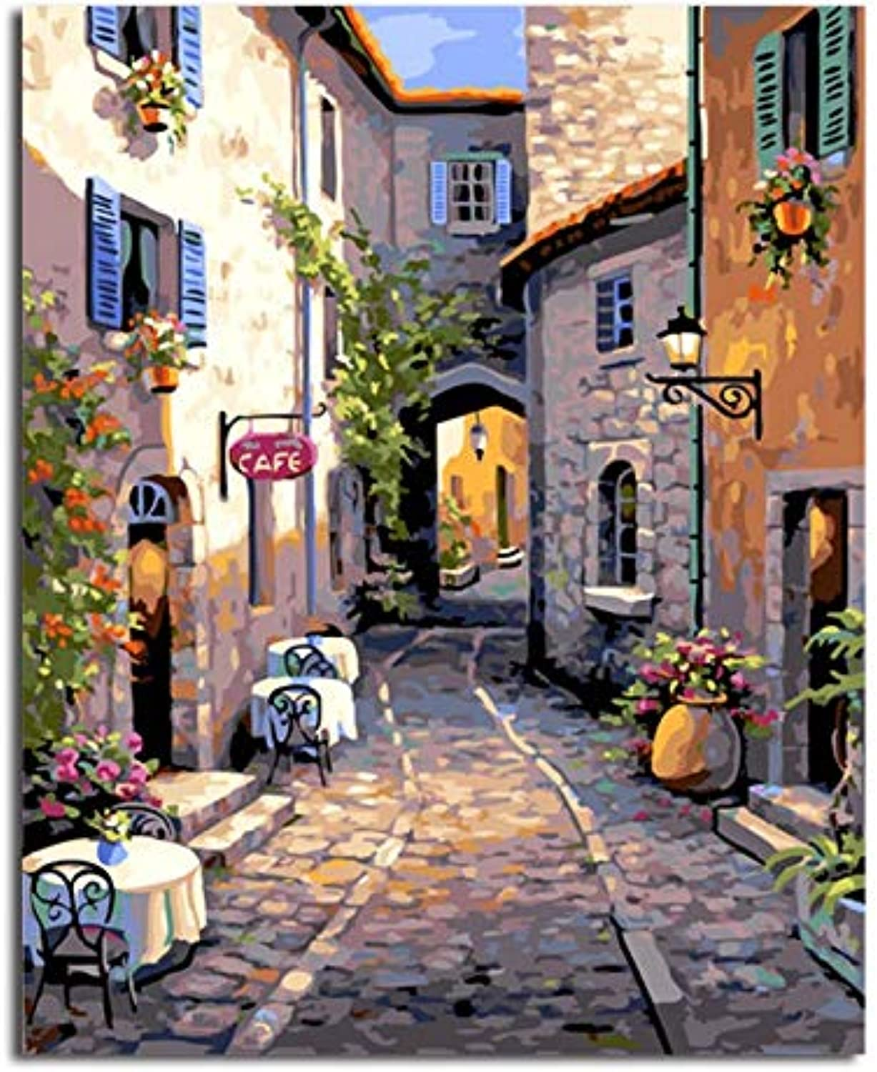DIY Oil Painting Picture Paintng By Numbers Handpainted Canvas Painting Home Decor For Living Room, Framed, 50x60cm