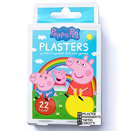 Peppa Pig Plasters | x22 Strips | 4 Sizes | Latex Free | Hypoallergenic | Wash proof | Breathable | CE Certified | Made by Jellyworks