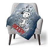 IUBBKI Personalisierte Kinder Fleece Decke Custom, Snoopy Musical, Superweiche Babydecke für Kinderbett Couch Stuhl Wohnzimmer