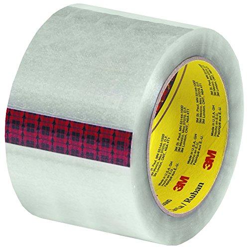 "3M 313 Carton Sealing Tape, 2.5 Mil, 3""x110 yds, Clear, 24/Case, 3M Stock# 7100177425"