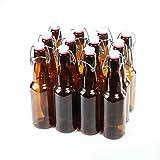 Bierflaschen mit Bügelverschluss, braunes Glas, 12 Stück, glas, 330ml