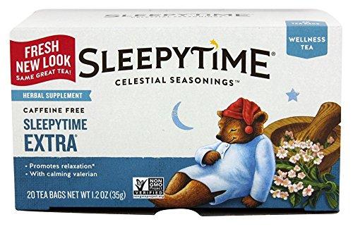 Celestial Seasonings Sleepytime Extra, kräutertee, koffeinfrei, 20 Teebeutel