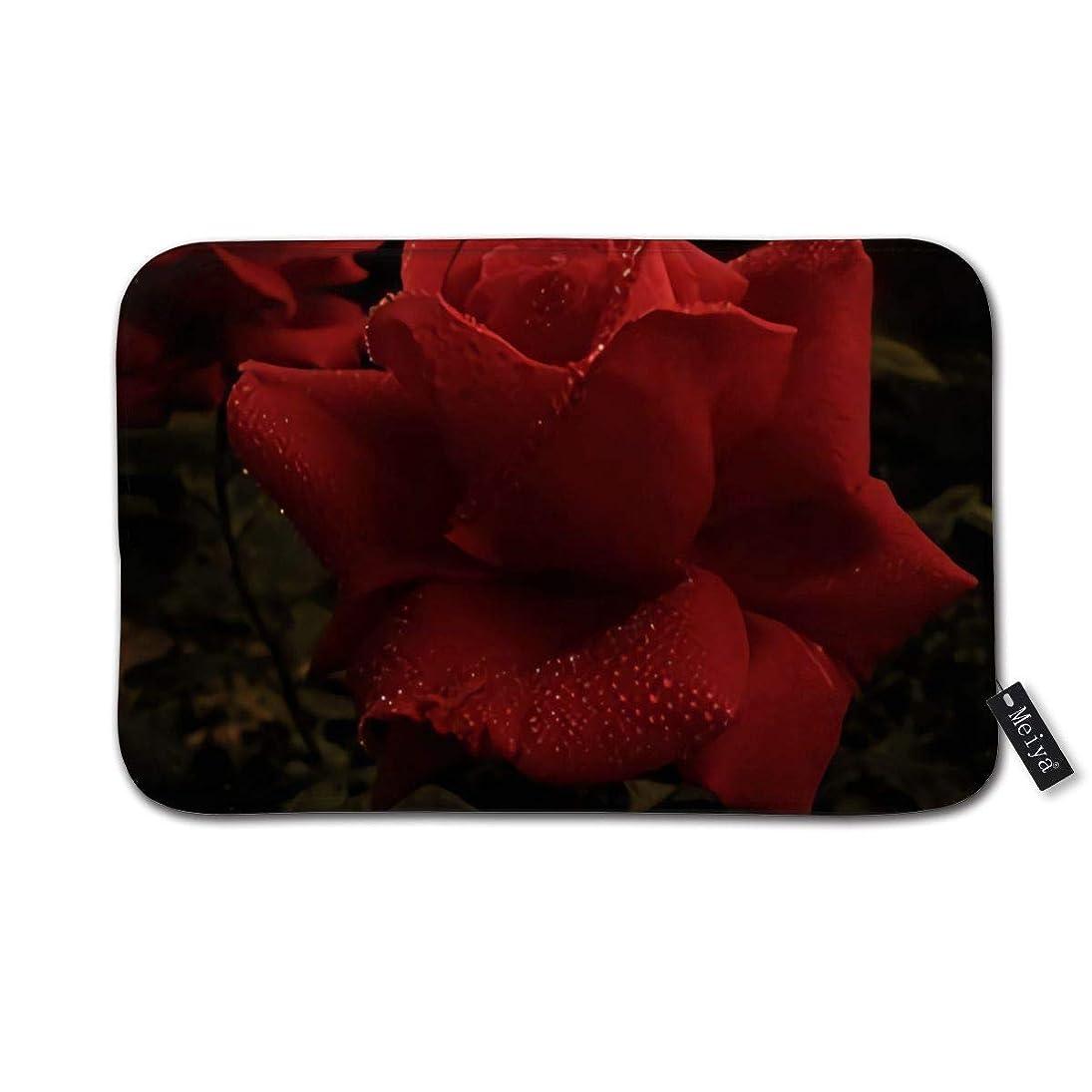重要性常にガード赤いバラ BathMatすばらしい玄関マット屋内浴室マット足ふきマット 速乾 吸水 キッチン お風呂 ドア 滑り止め 40cm×60cm