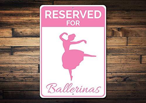 Domwtyrper Parkplatzschild für Ballerinas, Balletttänzerin, Geschenk, Ballerina Schild, Geschenk für Ballerina, Ballett-Liebhaber, Metalldekor – hochwertiges Aluminium
