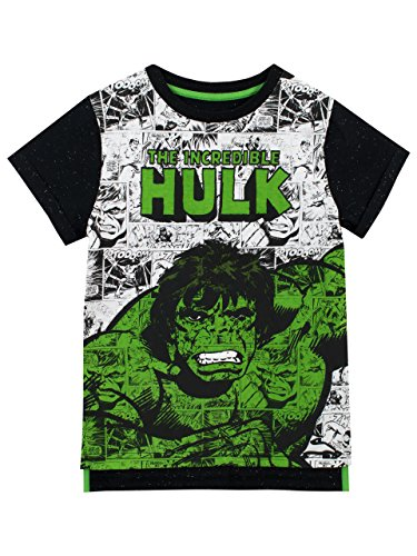 Marvel Boys The Incredible Hulk T-Shirt, Multicoloured, 3-4 Years