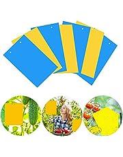 Osuter 40PCS Trampas de Insectos de Doble Cara Trampas Pegajosas de Insectos Práctico para Moscas Polillas Piojos Áfidos Insectos Voladores