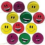 ArtCreativity Smile Face Yoyos for Kids, Pack of 12, Emoji Yo-Yo Toys...