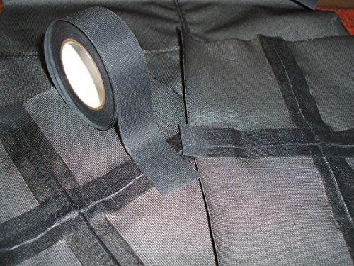 WBM Seam Tapes Nahtdichtband T-2000X - Hot Melt 3-lagig wasserdicht - zum Aufbügeln, T-2000X-22-BLACK, Schwarz, 22mm Width