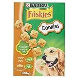 Purina Friskies Cookies Biscotti per Cane Aromatizzati con Pollo, 8 Scatole da 500 g Ciascuna