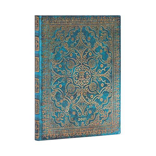 Paperblanks 12 Monate Softcover Flexis-Kalender 2021 Azurblau   Vertikal   Ultra (180 × 230 mm)