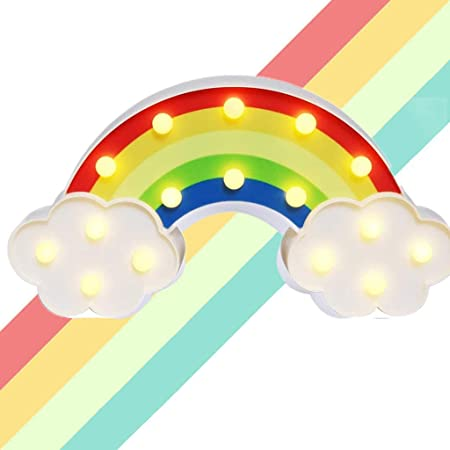 Arc en ciel Lumière Lampe Veilleuse pour enfants Décor,Lampe de Nuit Lampe d'Ambiance pour Chambre,Enfant,Noel Fête