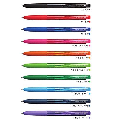 三菱鉛筆 uniゲルインクボール シグノRT1ラバーグリップ付 10色セット UMN-155-28