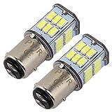 P21/5w Bay15d 1157 Led 12v-24v Ampoule feu de stop, DC10-30V Lumière blanc, pour Moto, RV, Auto Voiture, feux de jours, etc (Lot de 2)