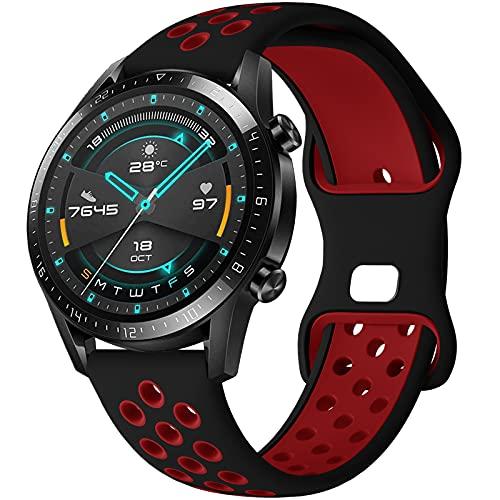 Correa para Amazfit Stratos Pulsera, 22mm Silicona Suave Reemplazar Banda Pulsera para Amazfit Pace/Amazfit Stratos/2/2S/Amazfit GTR 47mm/Amazfit GTR 2/2e/Huawei GT 2 46mm/Galaxy Watch 3 45mm/Gear S3