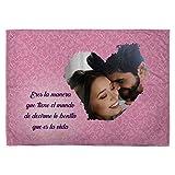 LolaPix Manta Personalizada con Foto. Regalos San Valentin Personalizados. 75X105. Varios Diseños. Mantas Personalizadas por 1 Cara. Manta Suave Bonita Vida