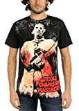 Photo de Générique Texas Chainsaw Massacre - Full Color Men Chainsaw Imprimer Big T-Shirt in Black, Large, Black par