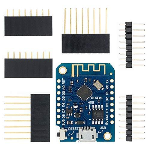 ESP8266 ESP-12 ESP-12F CH340G CH340 V2 USB Wemos D1 Mini WiFi Sviluppo scheda D1 Mini NODEMCU LUA IOT Board 3.3 V con PINOUT ( Color : D1 MINI V3.0.0 )