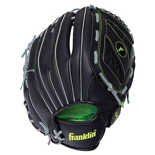 "Franklin Sports Baseball and Softball Glove - Field Master - Baseball and Softball Mitt Black, 14"" - Basket Web"