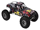 Nixi888 Coche teledirigido de alta velocidad de 30-40 km/h, aleación 01.10, 4 WD, Big foot Climbing Monster Truck Off Road Buggy para niños, juguete sorpresa de cumpleaños (color: rojo)