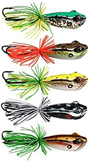AnglerDream Frog Killer Artificial Frog Fishing Lure VMC 3/0 Double Hook Top Water Floating Pike Bait Fishing Lure 58mm 11.5g