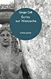 Ecrits sur Nietzsche