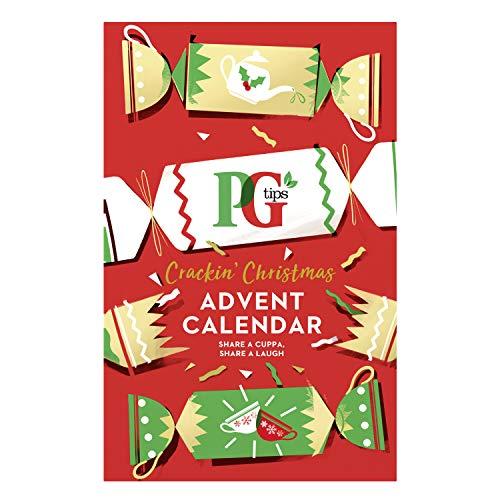PG Tips Advent Calendar 2020 Non Chocolate, 8 Flavours Including Herbal Tea, Black Tea & Green Tea, Tea Lovers Gift Pack 48 Tea Bags