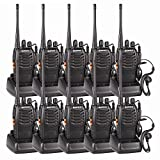 Baofeng 10 Pack Rechargeable Walkie Talkies Long Range 5W 16CH Handheld Two-Way Radio Set Walky Talky with USB...